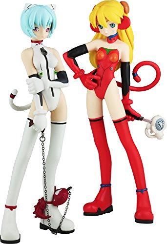 Asuka Pvc Figure - Kaiyodo Neon Genesis Evangelion: Rei Ayanami & Sohryu Langley PVC Figure (Grimlock Mix Version)