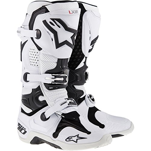 Alpinestars Tech 10 Men's Off-Road Motorcycle Boots - White Vented / 12