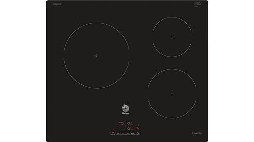 Balay 3EB864ER - Placa (Integrado, Induction hob, Vidrio, Sin marco, Tocar) color negro