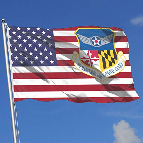 Sisa Air Force Headquarter Maryland Air National Guard 3x5 Foot Flag Outdoor Flag 100% Single-Layer Translucent Polyester 3x5 Ft]()