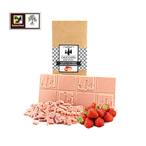 Chocolate blanco con fresas artesano