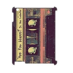 Cassette Tape Design Discount Personalized 3D Hard Case Cover for iPad 2,3,4, Cassette Tape iPad 2,3,4 3D Cover