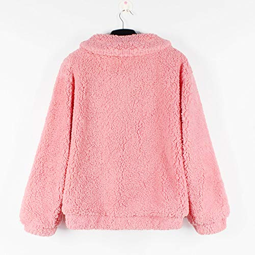 Fermeture Couleur Peluche Warm Unie Jacket Winter Laine Parka KEERADS Rose Manteau en Loisirs glissire Outwear Casual de Ladies Mode fminine de Revtement v7xqC0