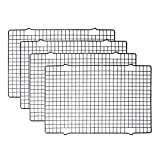 "Tebery 4 Pack 16"" x 10"" Cooling Racks Baking Rack"