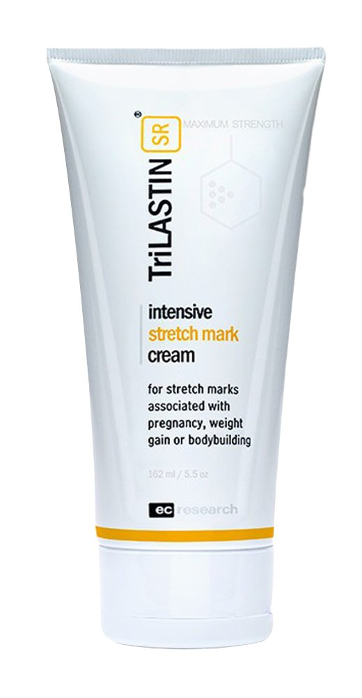 TriLASTIN-SR Maximum Strength Stretch Mark Cream, Reduces Stretch Marks from Maternity, Weight Loss, Bodybuilding, 5.5oz
