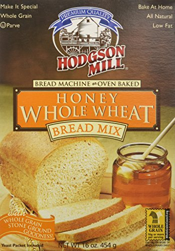 (Hodgson Mill Mix Bread Honey Whole Wheat, 16 Ounce Makes 1 Loaf, Wholesome Baking and Cooking Ingredients for Home Cooks and Whole Grains)