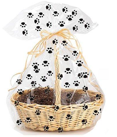 CakeSupplyShop Exclusive Item#20577 -5pack Dog Paw Cat Paw Animal Paw Print Large (25inchx 30inch) Cello/cellophane Bags Gift Basket Packaging Bags