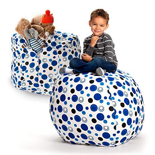 (Creative QT Stuffed Animal Storage Bean Bag Chair - Extra Large Stuff 'n Sit Organization for Kids Toy Storage - Available in a Variety of Sizes and Colors (38