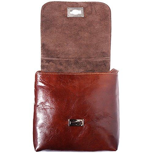 Flat 6546 Leather Bag Brown Medium TqzUFw