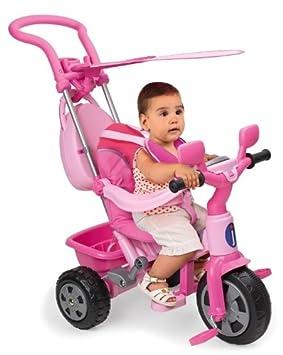 Juguettos Triciclo Baby Plus Music Rosa con Toldo