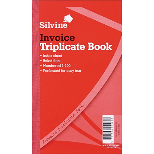 Silvine Triplicate Invoice Book 300 Sheets - Pack Of 6 by SILVINE