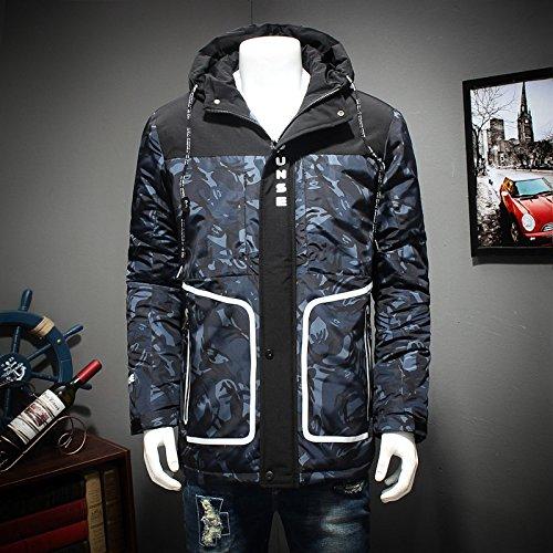 Men's Down Lsm Warm Jacket Coat Thick Outwear Padded Blue Coat Parka Dark HW5CqRwrn5