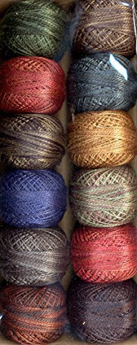 Valdani Size 8 Perle Cotton Embroidery Thread Country Lights Collection 1 (Perle One Light)