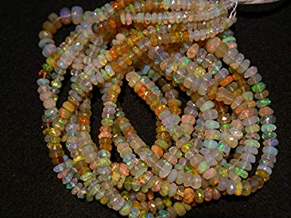 Ethiopian Opal Beads 3-7mm Welo Opal Natural Opal Plain Rondelle Beads 16 Inches Strand Smooth Opal Beads