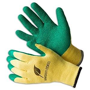 3x Garden Eden Gardening Gloves EN 388 | Work Glove for Gardening – Non Slip – Allround Grip – Breathable – for Men…
