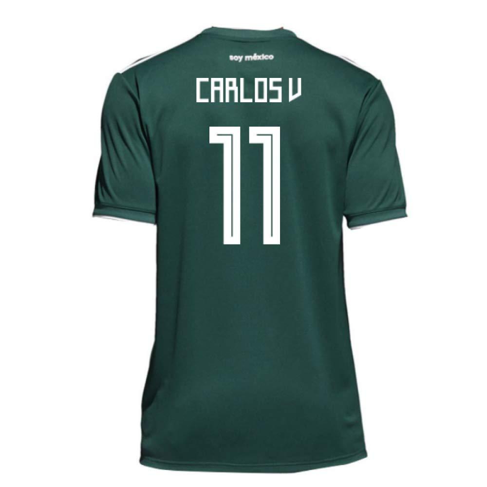 2018-19 Mexico Home Football Soccer T-Shirt Trikot (Carlos Vela 11) - Kids