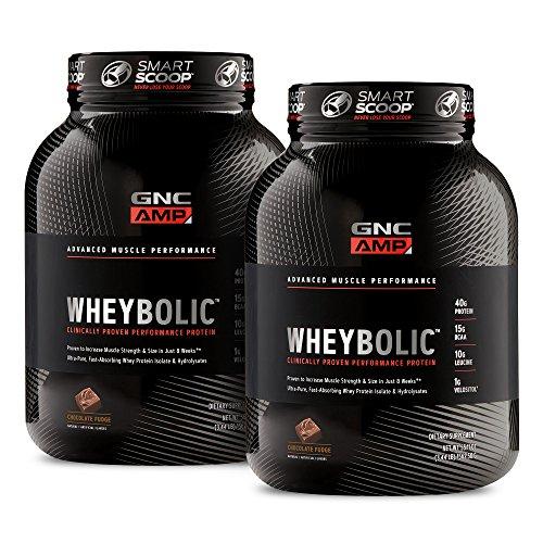 GNC AMP Wheybolic - Chocolate Fudge Bundle (Gnc Whey Protein Vs On Whey Protein)