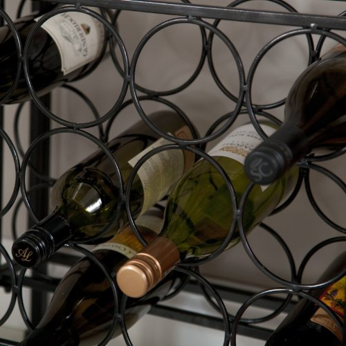 Metal Bakers Rack with Wine Storage, Wine Glass Storage and 2 Pull-out Storage Baskets by Belham Living (Image #6)
