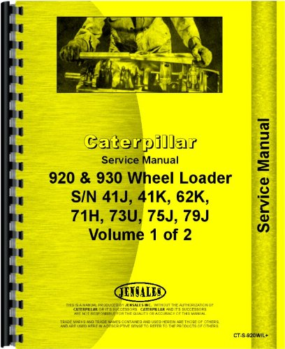 Caterpillar 920 930 Wheel Loader Service - 1973 Caterpillar