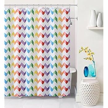 multi color chevron shower curtain. Luxury Home Vivid Chevron Shower Curtain  Multicolor Amazon com Room Essentials Fabric