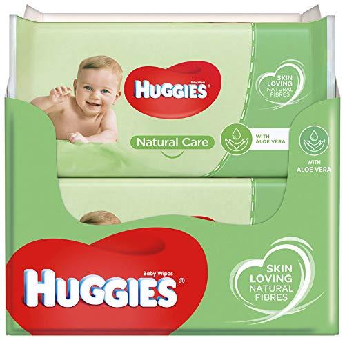 Huggies baby billendoekjes – Natural Care Extra Care – 448 stuks – 8 x 56 doekjes – Voordeelverpakking
