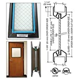 8'' x 32'' Door Vision Lite with Wire Glass
