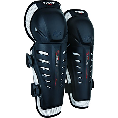 Fox Racing Titan Race Adult Knee/Shin Guard Off-Road Motorcycle Body Armor - Black/One ()