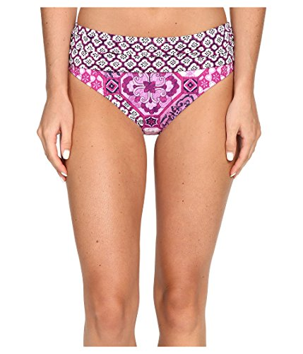 Tommy Bahama Women's Tiles of Tropics High Waist Sash Bottom Wild Orchid Pink Swimsuit Bottoms