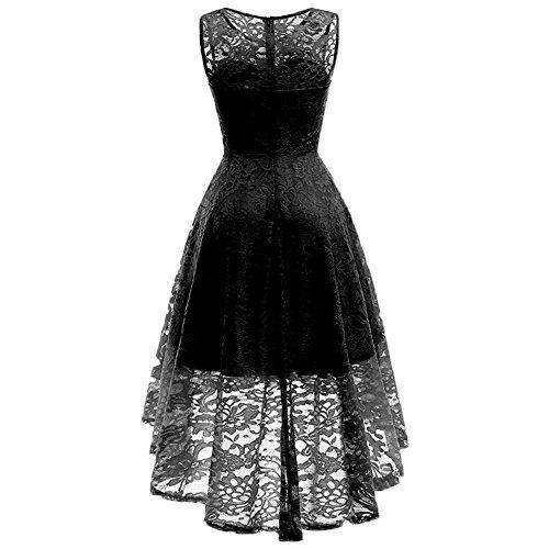 41816368d33 ... Fishtail Schwarz Spitzen Ärmellos Cocktailkleider Alian Ballkleid  Elegant Unregelmässig Damen Party Kleid Aus ...
