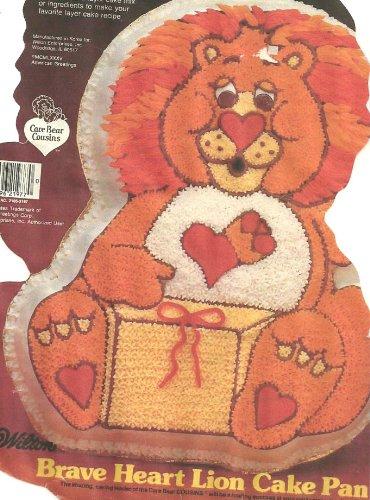 Wilton Brave Heart Lion Cake Pan (2105-3197, 1984) American (Food Lion Halloween Cakes)