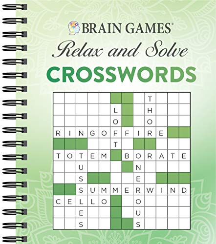 Brain Games - Relax and Solve: Crosswords (Green)