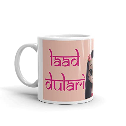 Buy Family Shoping Birthday Gifts For Sister Bhaidooj Laad Dulari White Coffe Mug Gift Girls Online At Low Prices In