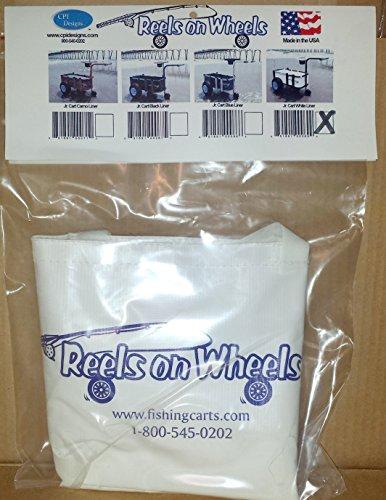 Reels on Wheels Vinyl Liner for Junior Cart, White