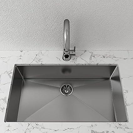 Single-Basin Stainless Steel Undermount Sink - Kitchen ...