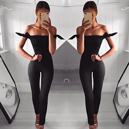 Mme Bretelles Noir Taille Ans Longues Fille Combishort Taille Casual Pantalon Jumpsuit De Sans L'Paule De Manches Femme Hors Ski Haute OHQ Haute Noir Clubwear Causal Pantalons Femmes Tnqx4RaqwP
