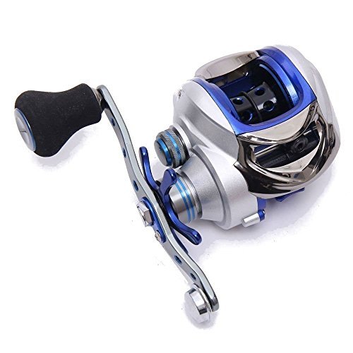 From usa entsport titanium alloy casting reel left for Left handed fishing pole