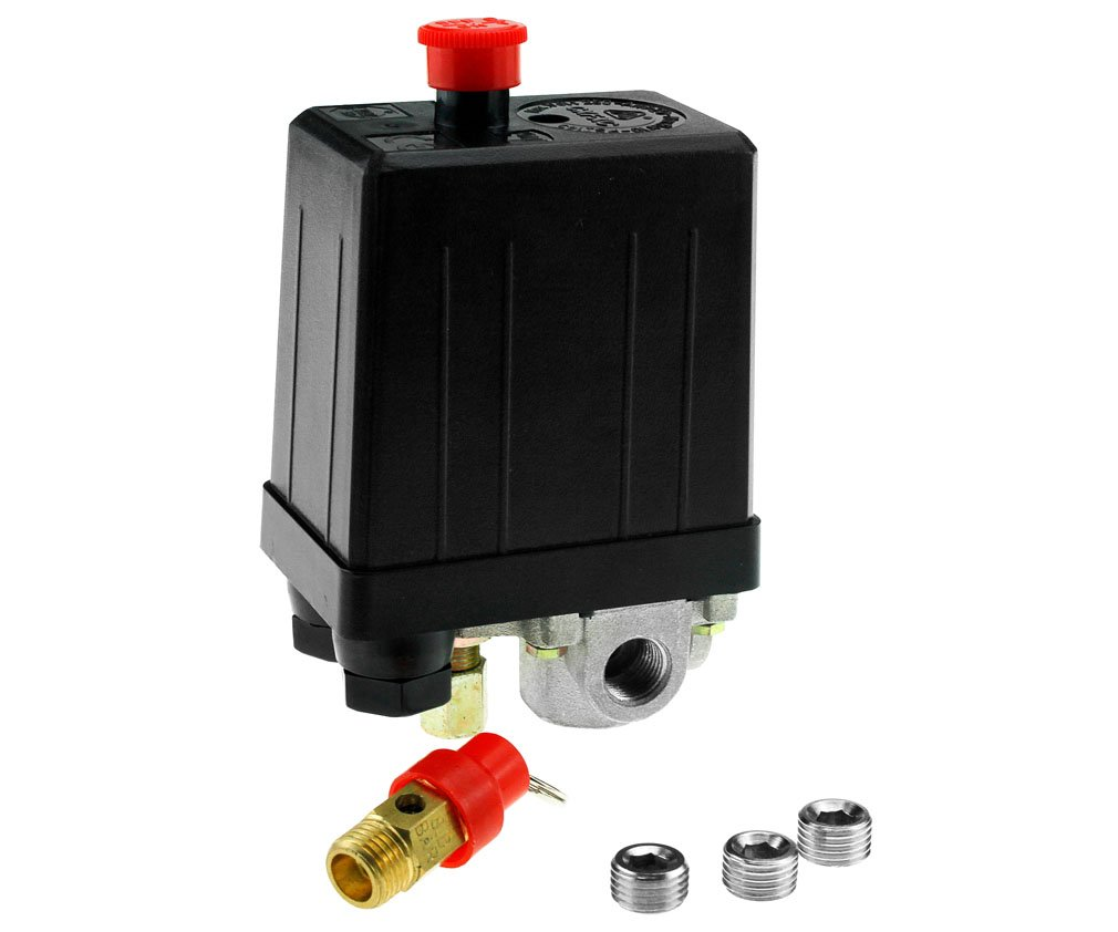 Single Phase Air Compressor Pressure Switch With Blanking Plugs & Safety Value