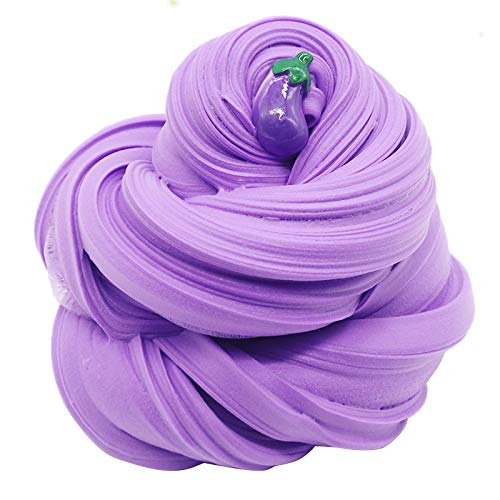 iWeller 2019Newest Purple Eggplant Butter Fluffy Slime,Super Soft and Non-Sticky( 200ML 7oz)