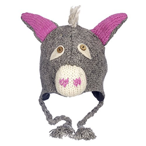 984ede6bb Paper High Men's Fun Donkey Handmade Woollen Animal Hat With Fleece Lining