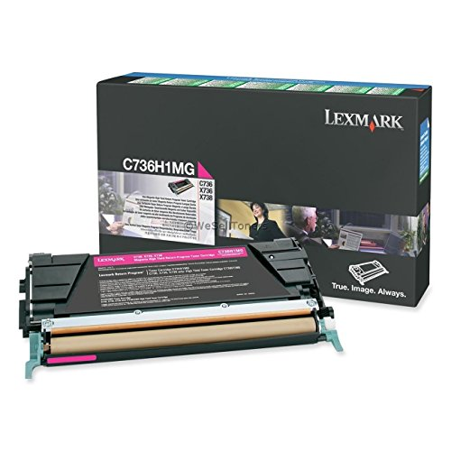 Genuine Lexmark High Yield Toner Cartridge, Magenta (C736H1MG) (Toner De Sharp compare prices)