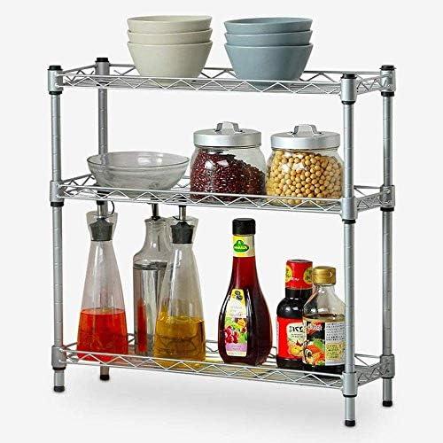 壁の棚棚3層多機能ラックの調節可能自由に格納式キッチンキッチンとリビングルーム