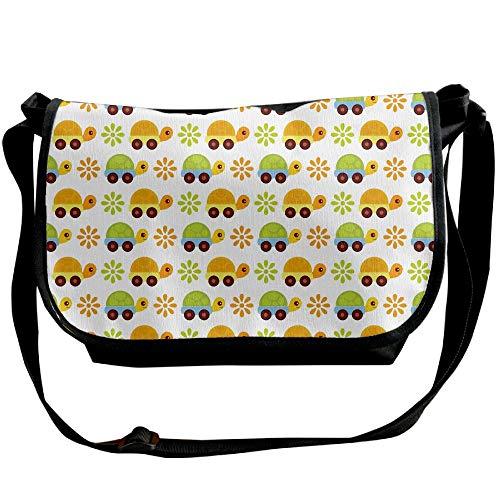 Tortoise Bag Floral Car Crossbody Bags Unisex Black Cartoon Travel Shoulder Handbags One Fashion pqd8wfEn
