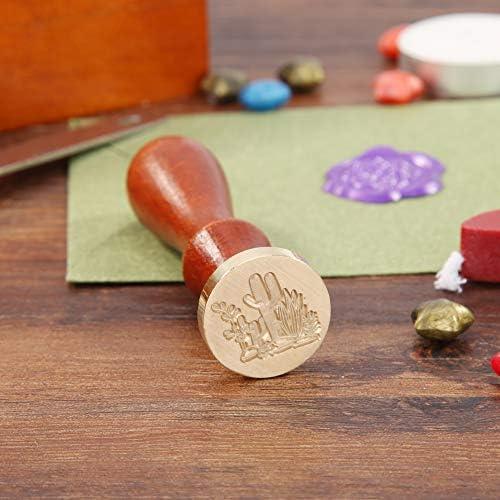 Prosperveil Vintage Wachssiegelstempel Hochzeit Custom Siegelwachs Stempel mit Holzgriff f/ür Einladungen Briefumschl/äge Basteln Dekoration eule