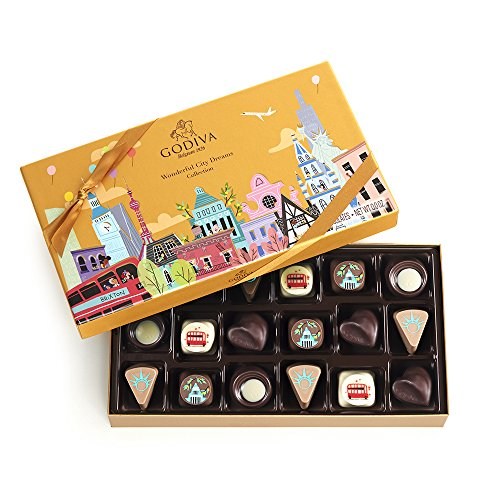 Godiva Chocolatier 18 Piece Gold Limited Edition Wonderful City Dreams Gift (London Milk Chocolate)