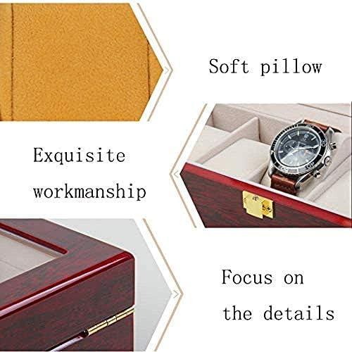 RMXMY Watch Box hölzerner Uhr-Anzeigen Box Verpackung Box Glasschiebedach Uhr Aufbewahrungsbox Uhrenbox Gläser Box Schmuck-Box