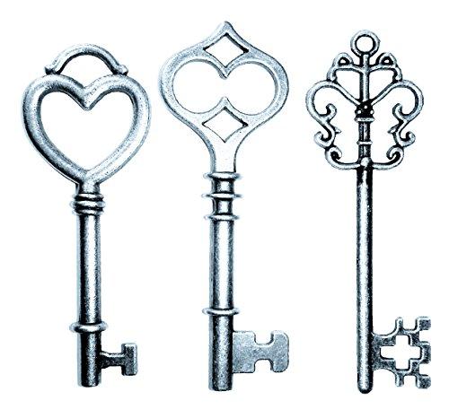 Mixed 30PCS Key Set, Antique Skeleton Keys, Vintage Steam Punk Keys, Castle Dungeon Pirate Keys for Birthday Party Favors, Mini Treasure Toy Gifts, Medieval Middle Ages Theme, Juliet (Juliet Mini Pendant)