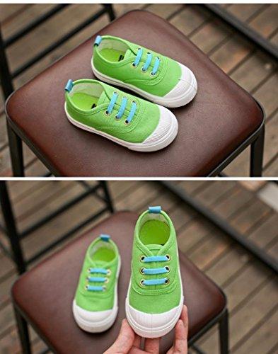 Hunpta Baby Mode Süßigkeit Farben Segeltuch Turnschuh Kind Freizeitschuhe Grün