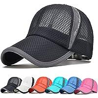 Summer Unisex Quick Dry Mesh Baseball Cap Lightweight Breathable Running Golf Caps Sports Sun Hats