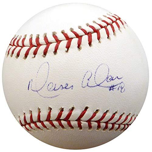 Moises Alou Autographed Official MLB Expos Logo Baseball Montreal Expos Beckett BAS #F26023