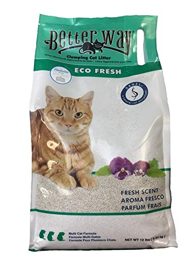 Better Way Eco Fresh Clumping Cat Litter (formerly Better Way Flushable Cat Litter), 12lb - Litter Toilet Kwitter Training